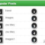 Automatic Numbering Popular Posts Widget for Blogger