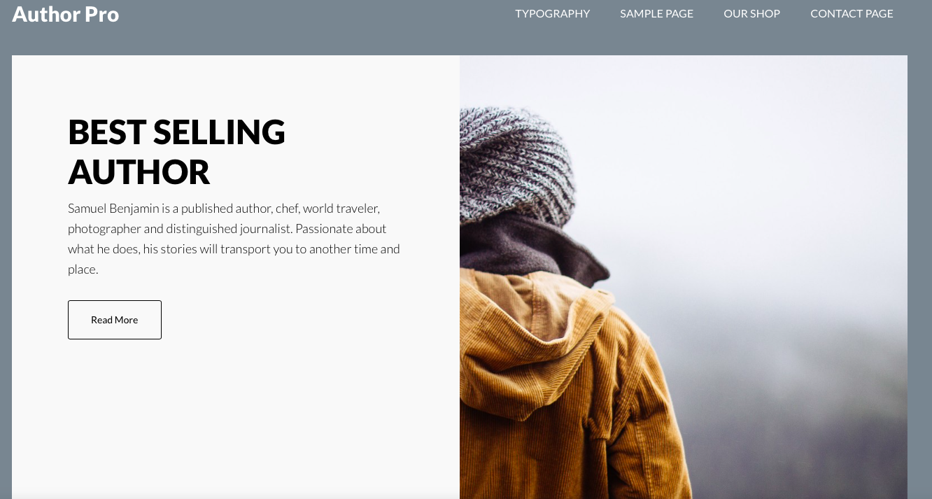 Author Pro Premium Child Theme