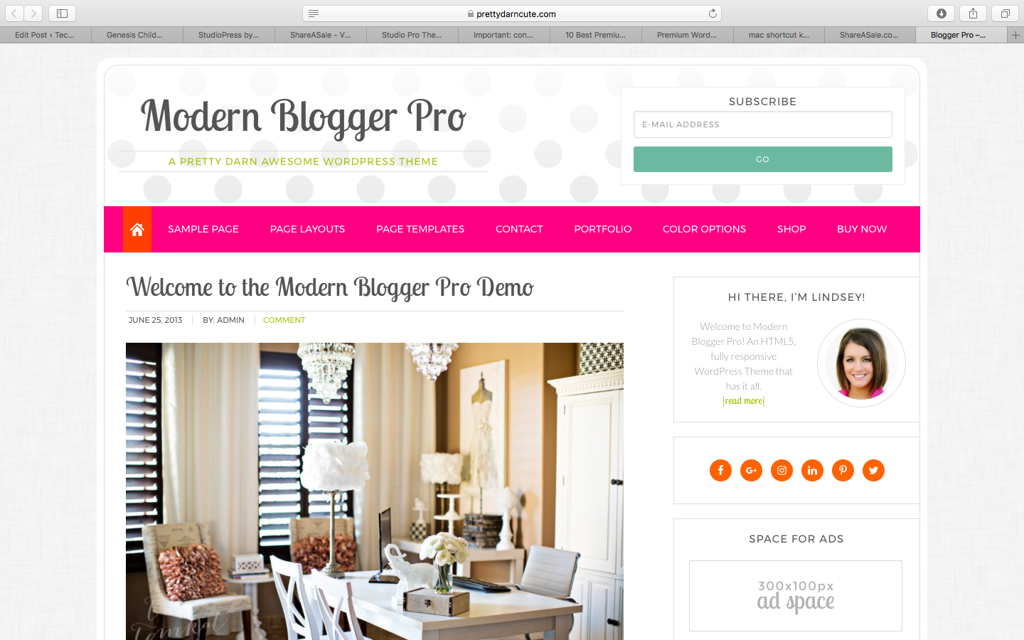 Modern Blogger Pro Genesis Child Theme
